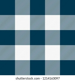 Christmas and new year tartan plaid. Scottish pattern in blue and white cage. Scottish cage. Traditional Scottish checkered background. Seamless fabric texture. Vector illustration