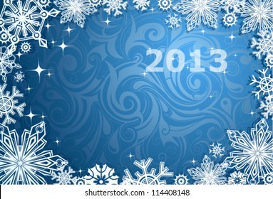 Christmas and New Year theme abstraction