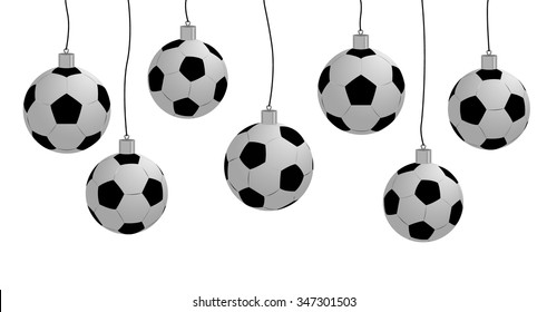 Christmas and New Year toy soccer ball. EPS10