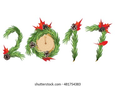 Christmas and New Year tree decoration - 2017