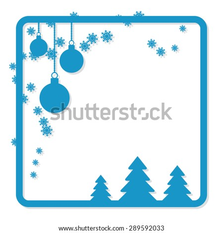 christmas and new year vector frame greeting or invitation card template