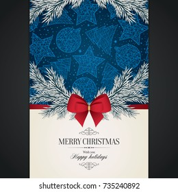Christmas and New Year. Vector greeting card