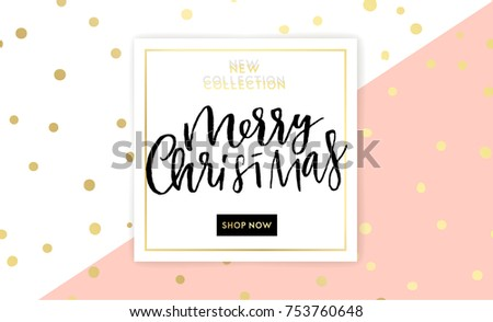 christmas new year winter poster vector illustration sale banner background