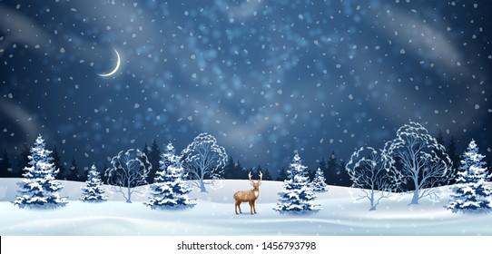 Winter Night Background Images Stock Photos Vectors Shutterstock