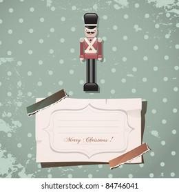 christmas nutcracker soldier vintage toy