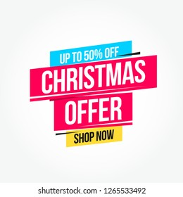 Christmas Offer Label