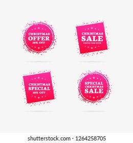 Christmas Offer, Christmas Sale & Christmas Special Labels