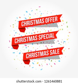 Christmas Offer, Christmas Special & Christmas Sale Labels