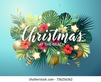 Christmas In Hawaii Party.Christmas Hawaii Stock Vectors Images Vector Art