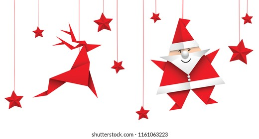 Christmas Origami.Origami Christmas Images Stock Photos Vectors Shutterstock