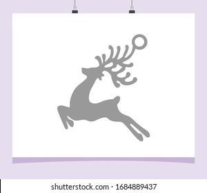 Christmas ornament design to cut out on paper or cardboard