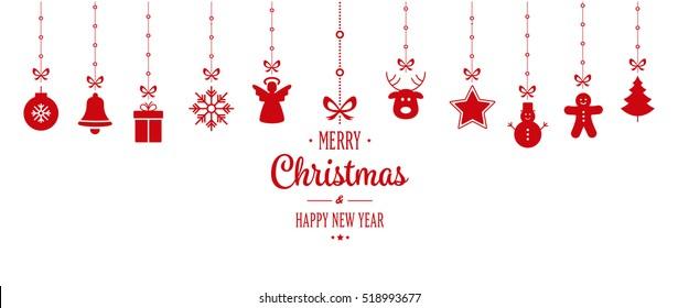ozdoba świąteczna wiszące czerwone izolowane tło