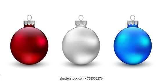 Christmas ornament  set. Vector Illustration.