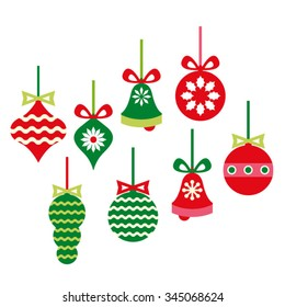Christmas ornaments vector.