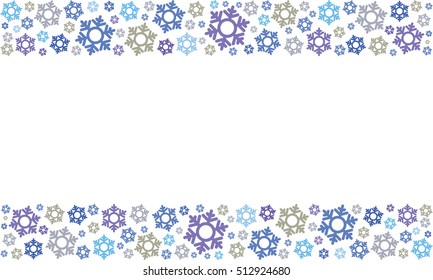 Christmas ornaments vector background.
