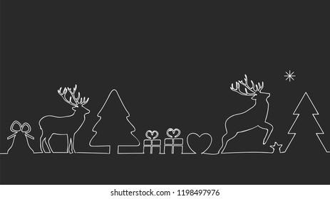 christmas outline for your christmas card