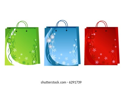Christmas Paper Bag Design - Vector