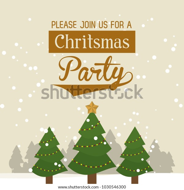 Christmas Part Invitation Card Stock Vector (Royalty Free) 1030546300
