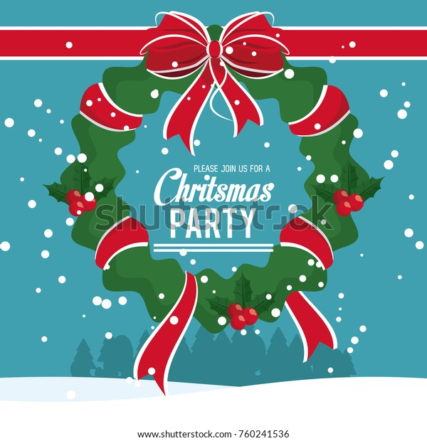 Christmas Part Invitation Card Stock Vector (Royalty Free) 760241536