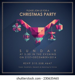 Christmas Party Invitation Card.