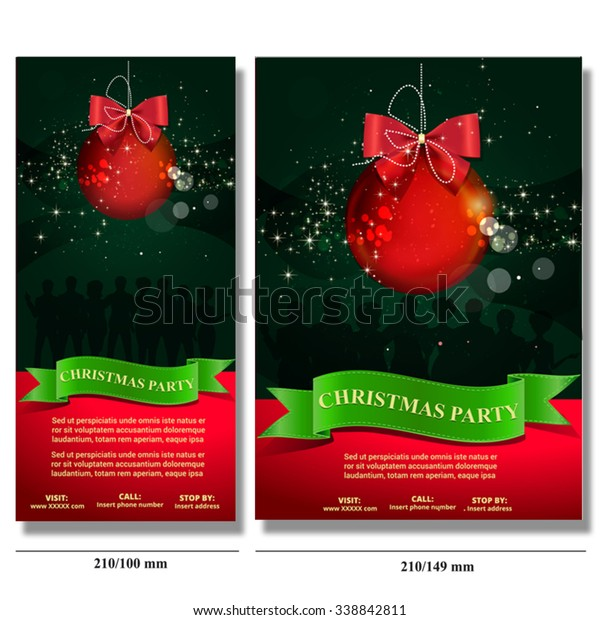 Christmas Party Invitation Card Flyer Stock Vector (Royalty Free ...
