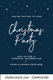 Christmas Party Invitation Greeting Card Vector Illustration Background