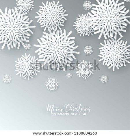 christmas party invitation paper cut origami stock vector royalty