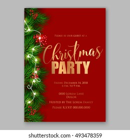 Invitation nol images stock photos vectors shutterstock christmas party invitation template stopboris Image collections
