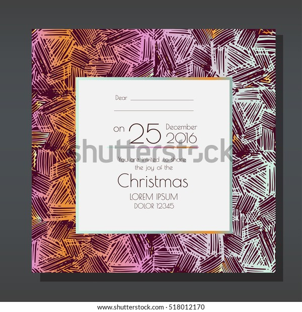 Christmas party invitation template. Card has enough copy space. Vector format.