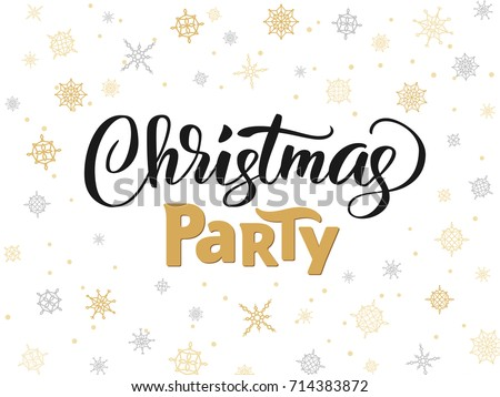 christmas party poster template vector illustration stock vector