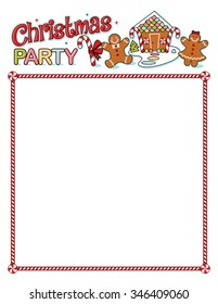 Christmas party printout with border