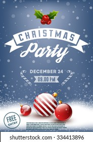 Christmas party retro poster