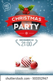 Christmas party retro poster