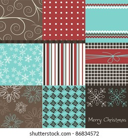 Christmas patchwork, vector