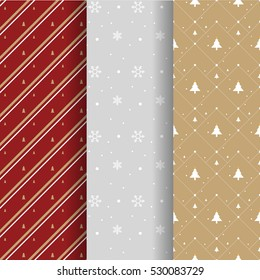 Christmas pattern collection for background and gift wrapping paper