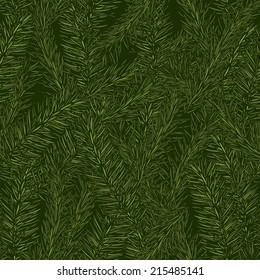 christmas pattern with fir branches