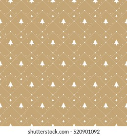 Christmas pattern on light gold background, for gift wrapping paper