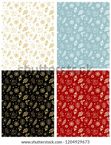 Christmas pattern vector set