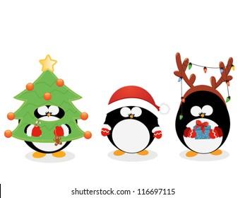 Christmas Penguin Set