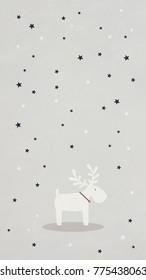 Christmas Phone Wallpaper Cute Girl Angel Stock Vector Royalty Free