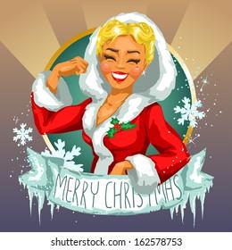 Christmas Pin-Up Girl