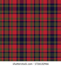 Christmas Plaid, checkered, tartan seamless pattern suitable for fashion textiles and graphics