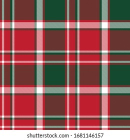 Christmas Plaid Tartan Checkered Seamless Pattern for fashion textiles and graphics