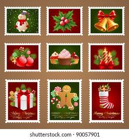 Christmas postage set.