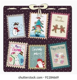 Christmas Postage stamps set