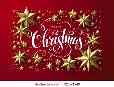 Christmas card images stock photos vectors shutterstock christmas postcard with calligraphic inscription decorated with gold stars chic christmas greeting card m4hsunfo