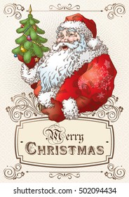 Christmas Postcard with Santa Claus 1