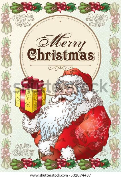 Christmas Postcard with Santa Claus 2