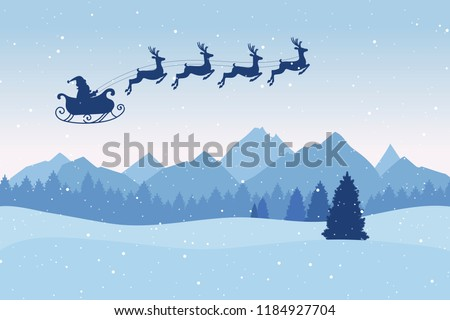 3967880b705813 Christmas Postcard Winter Landscape Pine Trees Stock Vector (Royalty ...