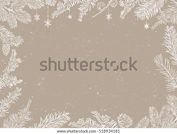 Christmas Poster - Illustration. Vector illustration of Christmas Background with branches of christmas tree.